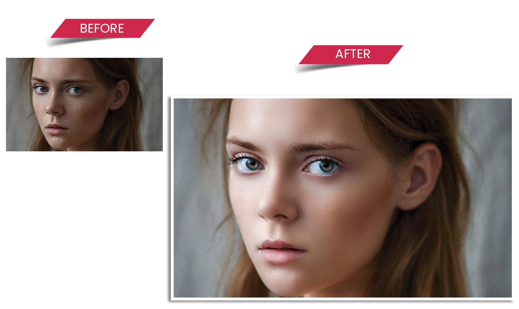 high end photo retouching