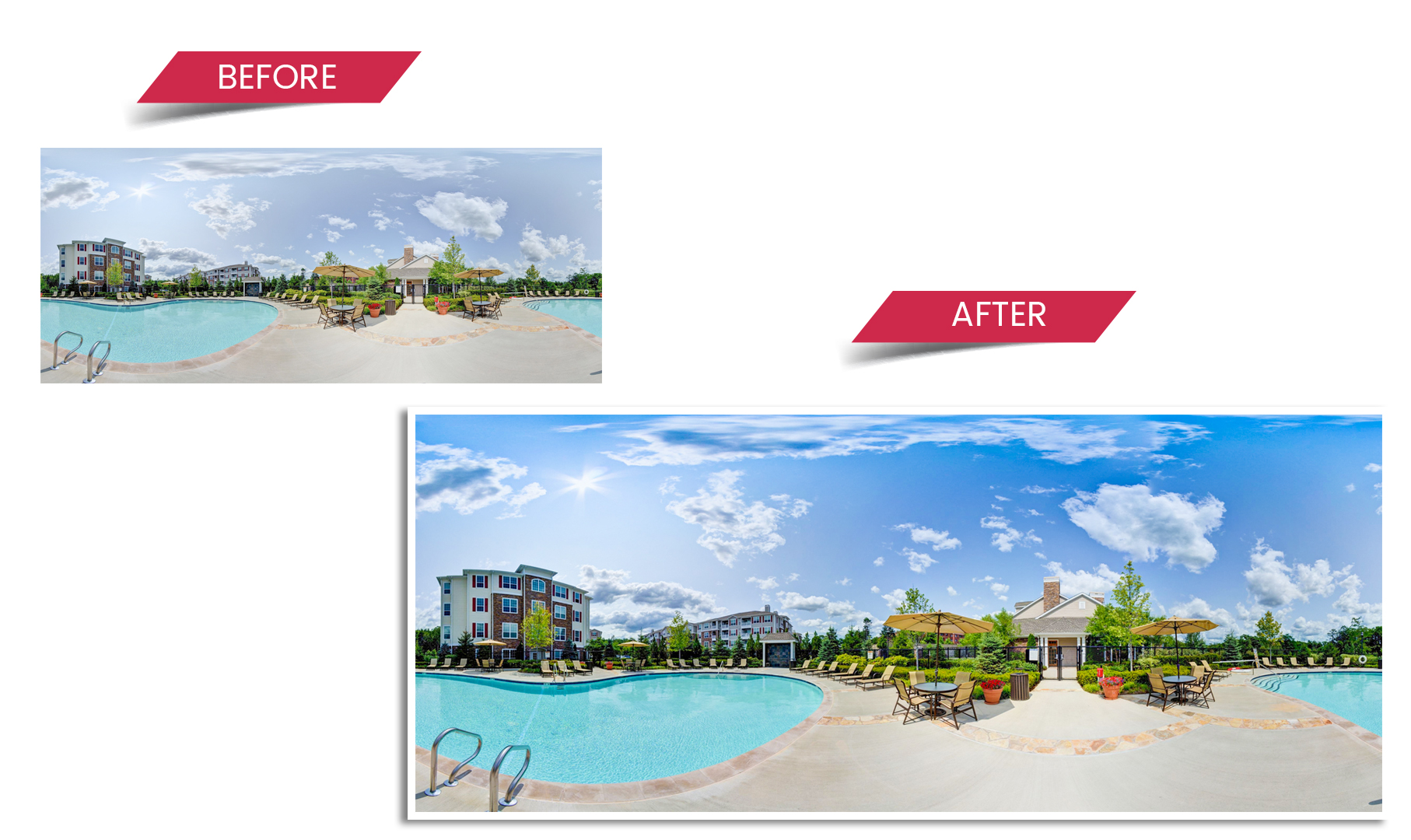 real estate panorama image
