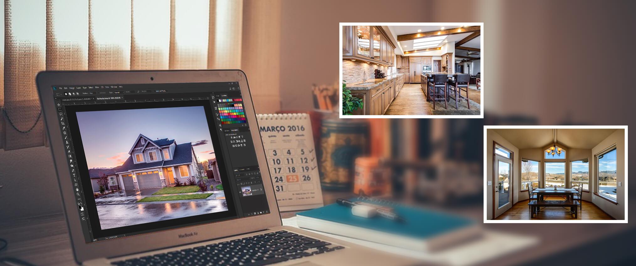 real estate photo editing