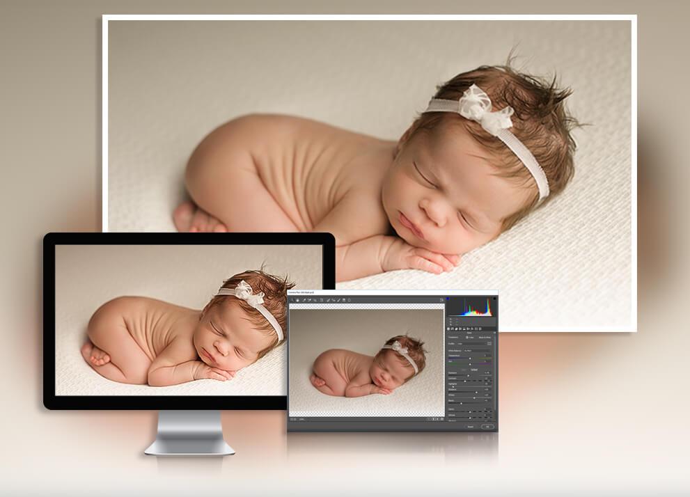 newborn baby photography editing