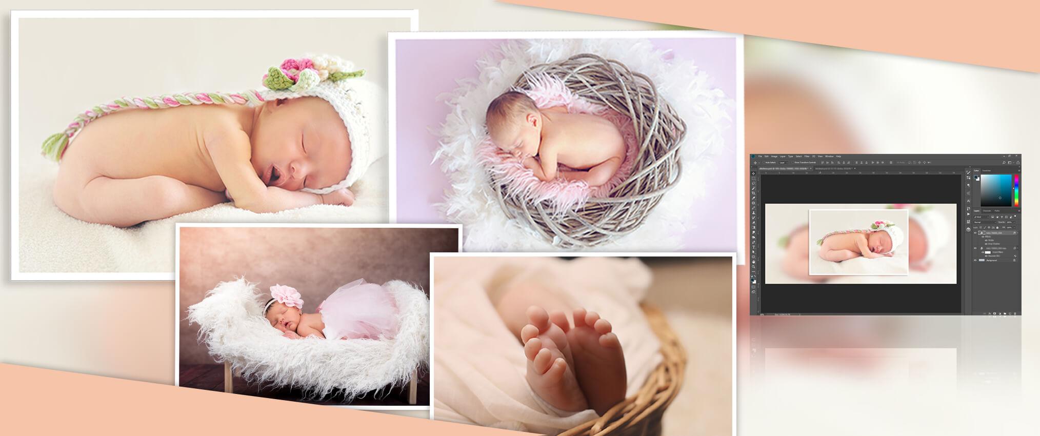 Image editing tips to improve newborn photography editing